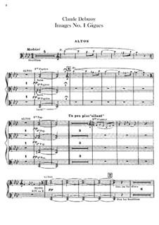 Set III, No.1 Gigues, L.122: Violas part by Claude Debussy