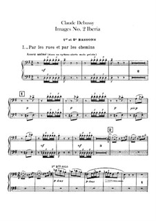 Set III, No.2 Iberia, L.122: Bassoons parts by Claude Debussy