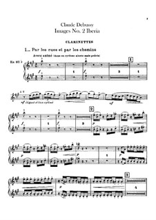 Set III, No.2 Iberia, L.122: Clarinets parts by Claude Debussy