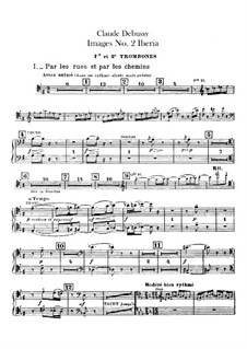 Set III, No.2 Iberia, L.122: Trombones and tuba parts by Claude Debussy