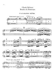 Set III, No.3 Rondes du printemps, L.122: Flutes parts by Claude Debussy