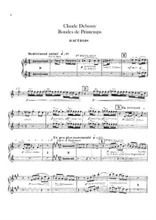 Set III, No.3 Rondes du printemps, L.122: Oboes and cor anglais parts by Claude Debussy