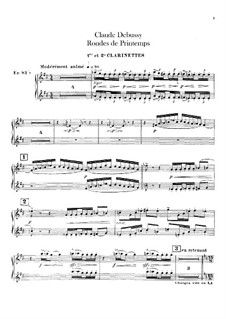Set III, No.3 Rondes du printemps, L.122: Clarinets parts by Claude Debussy