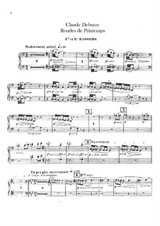 Set III, No.3 Rondes du printemps, L.122: Bassoons parts by Claude Debussy
