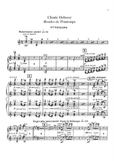 Set III, No.3 Rondes du printemps, L.122: Violins I part by Claude Debussy