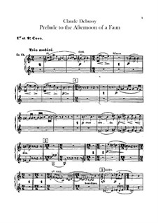 Prélude à l'après-midi d'un faune (Prelude to the Afternoon of a Faun), L.86: Horns parts by Claude Debussy