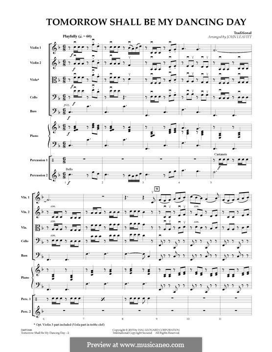 Tomorrow Shall Be My Dancing Day: Full Score by folklore