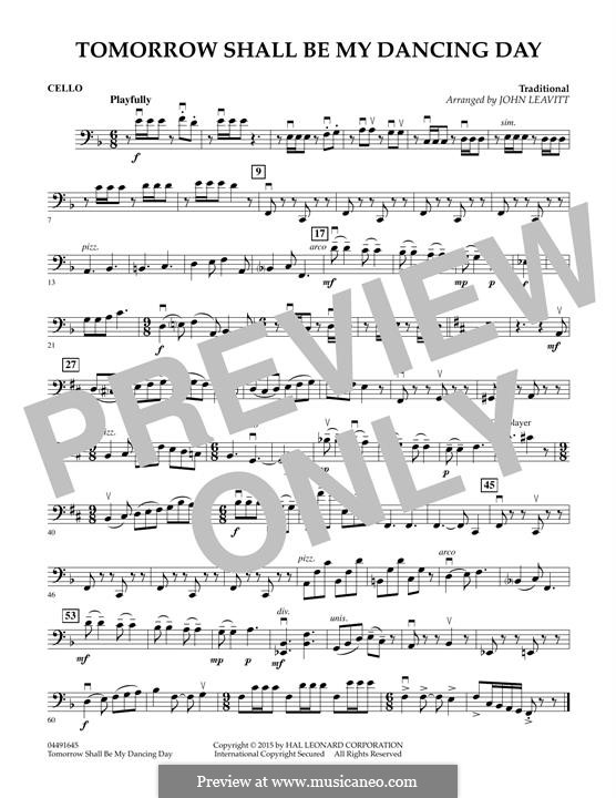 Tomorrow Shall Be My Dancing Day: Cello part by folklore