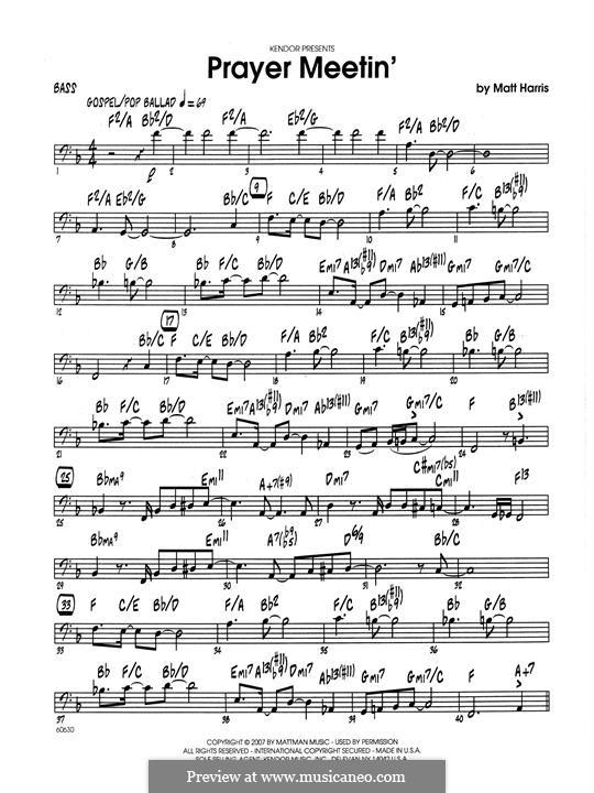 Prayer Meetin': Bass part by Matthew Harris