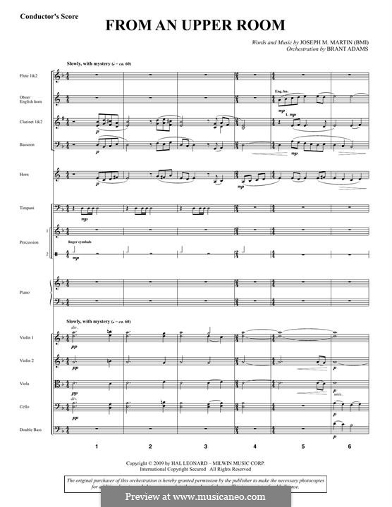 From An Upper Room (from Lenten Sketches): Score by Joseph M. Martin
