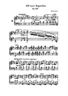 Eleven New Bagatelles for Piano, Op.119: Bagatelle No.6 by Ludwig van Beethoven