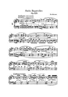 Sechs Bagatellen, Op.126: Bagatelle No.1 by Ludwig van Beethoven