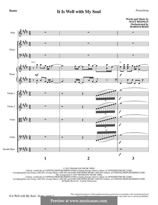 It Is Well with My Soul (Printable scores): Full Score by Philip Paul Bliss