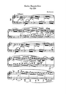 Sechs Bagatellen, Op.126: Bagatelle No.2 by Ludwig van Beethoven