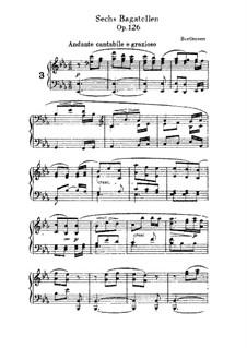 Sechs Bagatellen, Op.126: Bagatelle No.3 by Ludwig van Beethoven