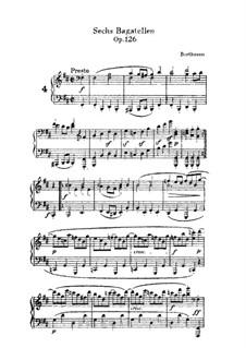Sechs Bagatellen, Op.126: Bagatelle No.4 by Ludwig van Beethoven