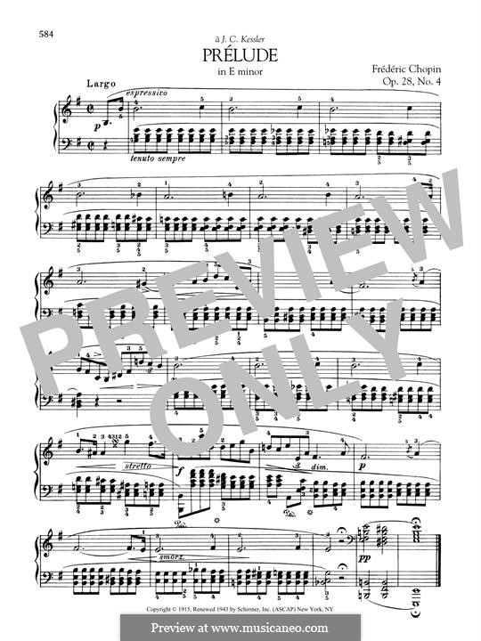 No.4 in E Minor: For piano by Frédéric Chopin