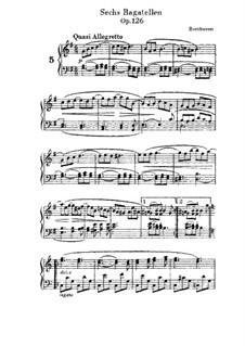 Sechs Bagatellen, Op.126: Bagatelle No.5 by Ludwig van Beethoven