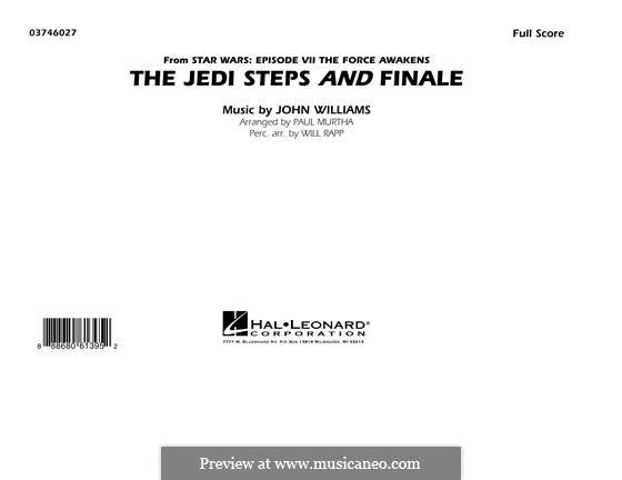 The Jedi Steps and Finale (from Star Wars: The Force Awakens): Full Score by John Williams