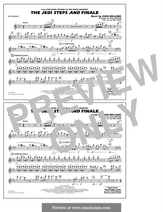 The Jedi Steps and Finale (from Star Wars: The Force Awakens): Flute/Piccolo part by John Williams