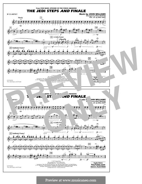 The Jedi Steps and Finale (from Star Wars: The Force Awakens): Bb Clarinet part by John Williams