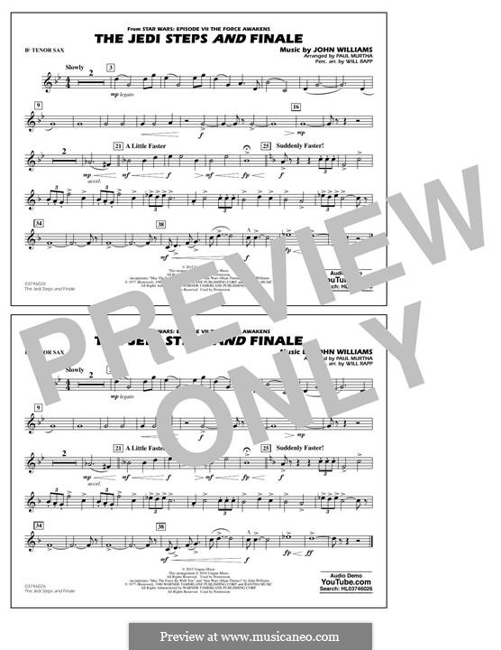 The Jedi Steps and Finale (from Star Wars: The Force Awakens): Bb Tenor Sax part by John Williams