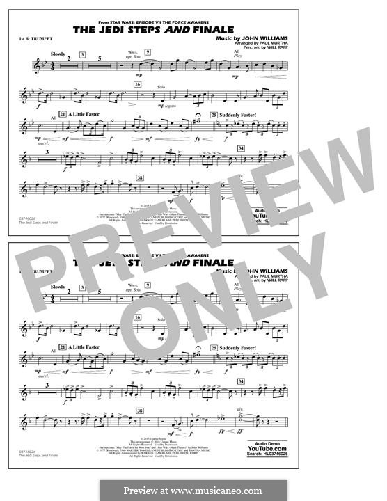 The Jedi Steps and Finale (from Star Wars: The Force Awakens): 1st Bb Trumpet part by John Williams