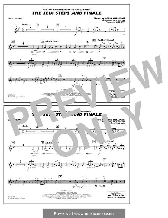 The Jedi Steps and Finale (from Star Wars: The Force Awakens): 2nd Bb Trumpet part by John Williams