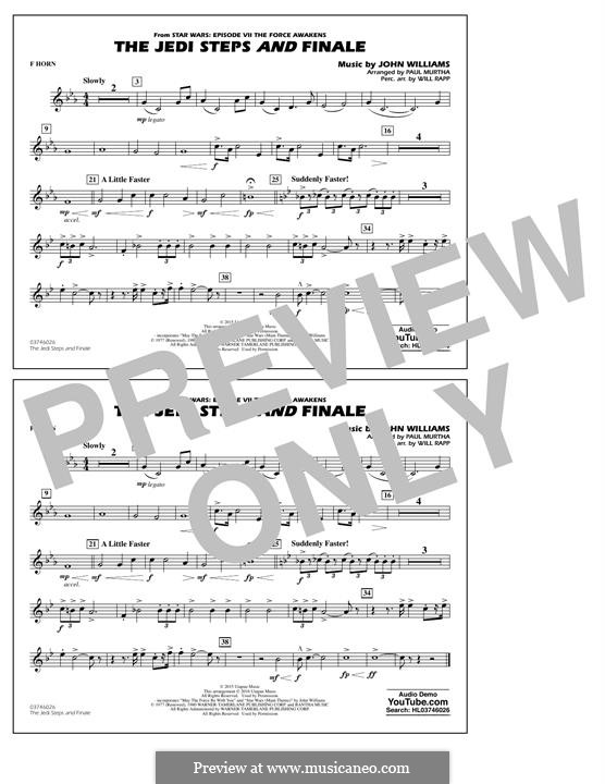 The Jedi Steps and Finale (from Star Wars: The Force Awakens): F Horn part by John Williams