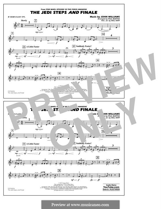 The Jedi Steps and Finale (from Star Wars: The Force Awakens): Bb Horn/3rd Bb Tpt part by John Williams