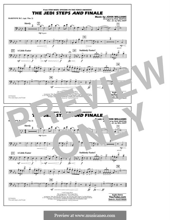 The Jedi Steps and Finale (from Star Wars: The Force Awakens): Baritone B.C. (Opt. Tbn. 2) part by John Williams