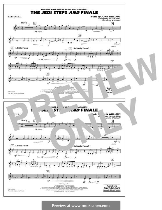 The Jedi Steps and Finale (from Star Wars: The Force Awakens): Baritone T.C. part by John Williams