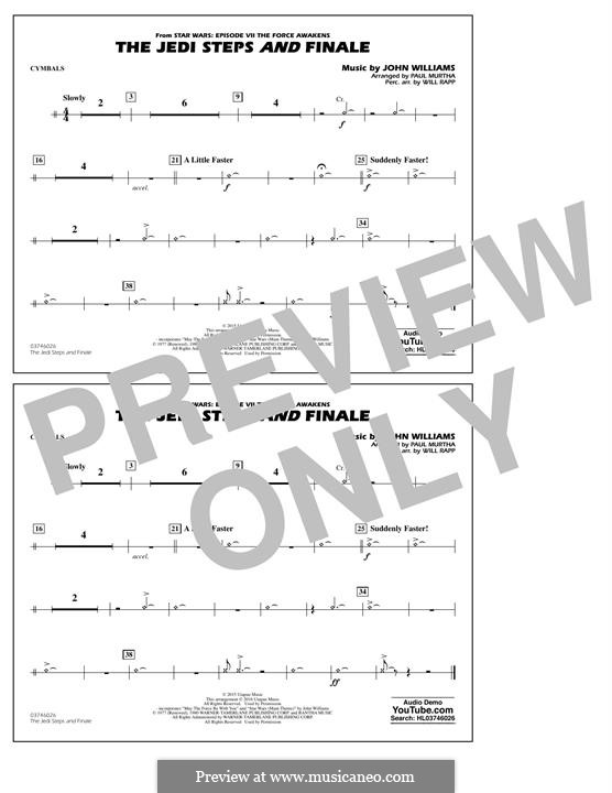 The Jedi Steps and Finale (from Star Wars: The Force Awakens): Cymbals part by John Williams