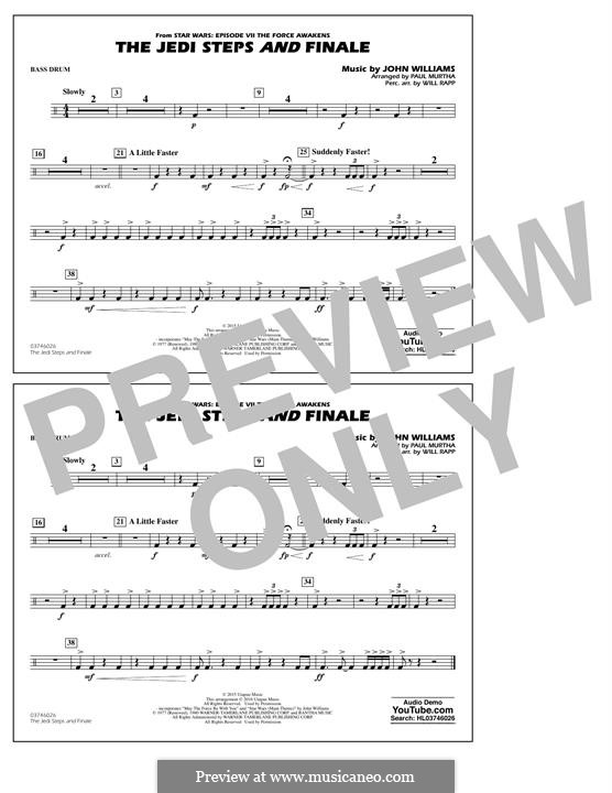 The Jedi Steps and Finale (from Star Wars: The Force Awakens): Bass Drum part by John Williams