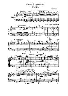 Sechs Bagatellen, Op.126: Bagatelle No.6 by Ludwig van Beethoven