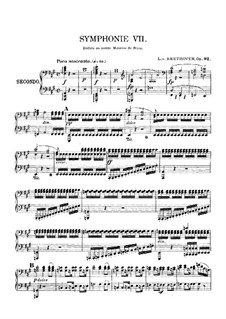 Complete Symphony: Version for piano four hands by Ludwig van Beethoven
