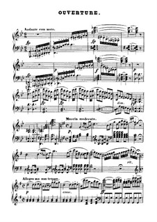 Overture: For piano by Ludwig van Beethoven