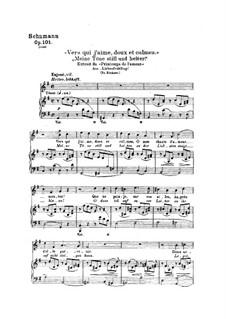 Minnespiel, Op.101: Nr.1-2, 4, 6 by Robert Schumann