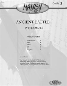 Ancient Battle (Full Score, Parts): Ancient Battle (Full Score, Parts) by Christopher Maney