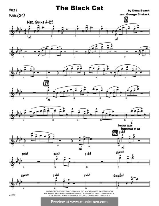 The Black Cat: Flute part by George Shutack