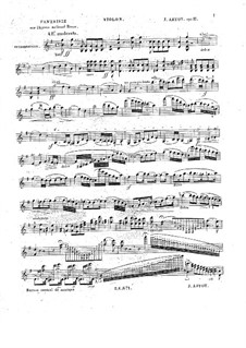 Grand Fantasia on the Russian National Anthem, Op.11: Solo part by Alexandre Joseph Artôt