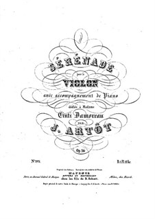 Serenade for Violin and Piano, Op.14: Serenade for Violin and Piano by Alexandre Joseph Artôt