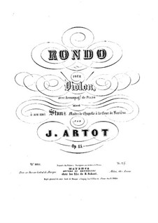 Rondo for Violin and Piano, Op.15: Score by Alexandre Joseph Artôt