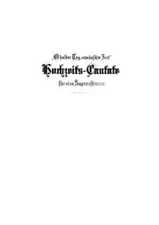 O holder Tag, erwünschte Zeit, BWV 210: Full score by Johann Sebastian Bach