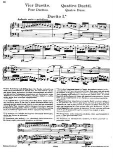 Clavier-Übung (Part III). Four Duets, BWV 802–805: Arrangement for piano by Johann Sebastian Bach