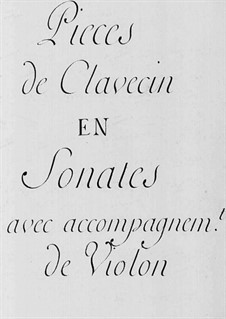 Sonatas for Violin and Harpsichord: Sonatas for Violin and Harpsichord by Claude-Bénigne Balbastre