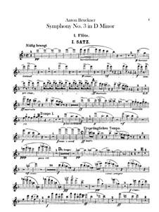 Symphony No.3 in D Minor, WAB 103: Flutes parts by Anton Bruckner