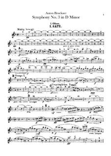 Symphony No.3 in D Minor, WAB 103: Oboes parts by Anton Bruckner
