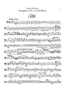 Symphony No.3 in D Minor, WAB 103: Bassoons parts by Anton Bruckner