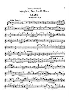 Symphony No.3 in D Minor, WAB 103: Clarinets parts by Anton Bruckner